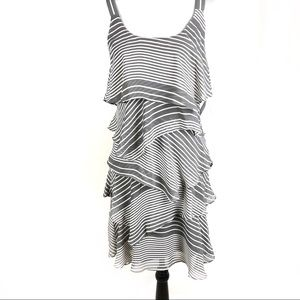 ROBBIE BEE FLAPPER SLEEVELESS STRIPE DRE…